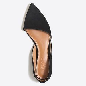 Zoe Suede D'Orsay Flats 6.5 6H Black